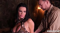 Anal inspectors in hardcore DP threesome with sexy soldier Veronica Avluv thumbnail