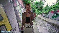 Public Agent Redhead Ariela Donovan Fucked In A