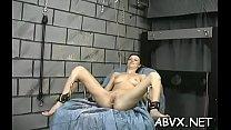 Hottie gets chap to roughly stimulate her pussy in bondage xxx Vorschaubild