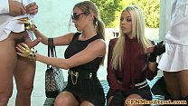 Nasty cfnm femdom Britney Amber up close Thumbnail