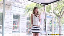 Inked euro babe pickedup for public truck sex video