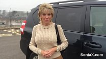 Cheating english milf lady sonia shows off her giant breasts's Thumb