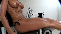 MELANIE BROOKS  Baby Oil And Weights