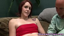 Tgirl rimmed and milked
