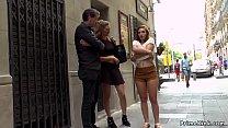 Spanish slut fucked in busy public shop thumb