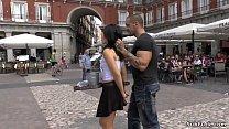 Download video bokep Spanish slut bound paraded in public 3gp terbaru