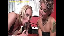 Big Black Dick Shared By Two Blondes