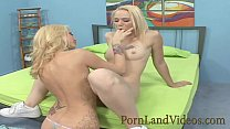 blonde bitch teaching young Anna to lick vagina preview image