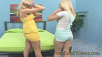 blonde bitch teaching young Anna to lick vagina - sunney leone sex thumbnail