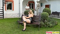 Plump Blonde Kristy Sixty Nine Outdoor Face Sit...
