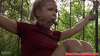 Dominated teen slave punished by black master's Thumb