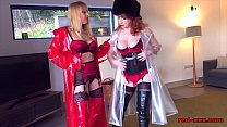 Red XXX and her girlfriend play together in lin...