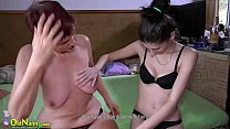 Compilation of granny and teen lesbian act