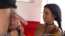 Busty Ebony Jenna Foxx gets fucked on casting preview image
