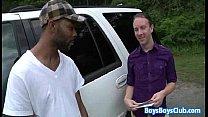 Huge black stud breeding white gay muscular guy 26