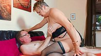 XXX OMAS - Sultry grandma gives intense blowjob...