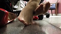 Cams4free.net - Candid Nylon Feet Under Desk preview image