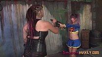 Huxly Smashes Supergirl - Saharra Huxly, Pixie Vonbat