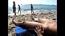 Woman walks naked around beach - 9Club.Top