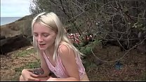 www.kamapisachi.com - Skinny 18 year old sucking and fucking on beach (amateur pov)  kate bloom thumbnail