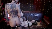 Alt dom anal fingers and spanks blonde