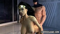 Hot 3D cartoon Wonder Woman gets fucked by Batman pornhub video