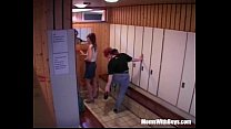 Sauna Group Fuc k With Two Horny Matures y Matures