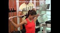 Teen facial in fitness room thumbnail