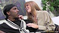 Sexy cougar Darla Crane gets anal from big black cock thumbnail