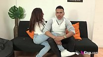 8744 A 21yo beauty fucks her Latino husband for us. And she fucks him so well! preview