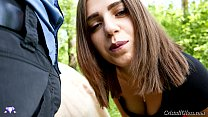 MILF Suck Big Cock and Cum Doggystyle Public - Cristall Gloss