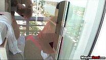 Hot amateur skinny teen fucked in ass on balcony Kelly Diamond Xxx 1 2 porn thumbnail