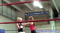 Fingered euro babe pleasured by her opponent