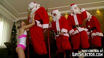 Young Doris Ivy anal fucked by 5 Santas pornhub video