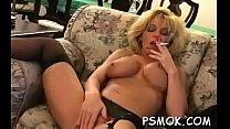 Diminutive beautie sucks a large cock like a professional pornhub video