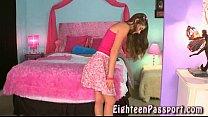 Brunette teen getting her panties wet thumbnail