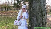 Winter time pickup with flashing blonde