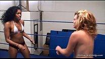 17953 Interracial Catfight Wrestling Black vs White preview