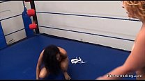 15857 Interracial Catfight Wrestling Black vs White preview