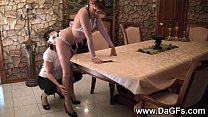 French Maid Bella's Lesbian Fucking