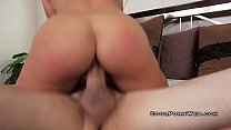 Image: Blonde with big boobs and big buts riding cock