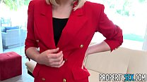 PropertySex - Red blazer agent Lily Labeau fornicates in mansion preview image