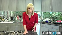 PropertySex - Red blazer agent Lily Labeau fornicates in mansion