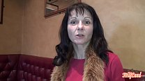 Slutty milf Monica in threesome with two hungry guys