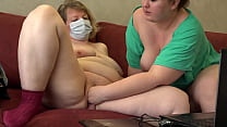 Mature Chubby Lesbians In Front Of A Webcam Sho