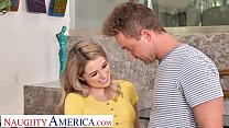Naughty America - Teen Abby Adams fucks the landscaper