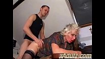 Granny Gets Facefucked and Gets a Dirty Foot in Her Old Pussy Vorschaubild