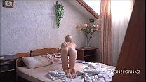 Skinny Teen Milena - Waiting for her boyfriend in bed