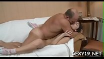Old teacher is having enjoyment fucking young babe's chaste pussy