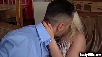 Sexy blonde GILF Szandi was surprised when her hot neighbor Mugur knew that she is a pornstar.Mugur didnt waste anytime and fuck her pussy. thumbnail